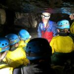 School group - discussion about cave formation, Swildon's Hole