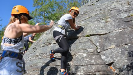 Introduction to outdoor climbing.