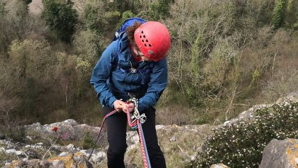 Abseiling Wye Valley