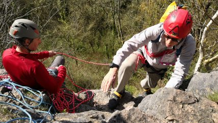 Developing outdoor climbing skills