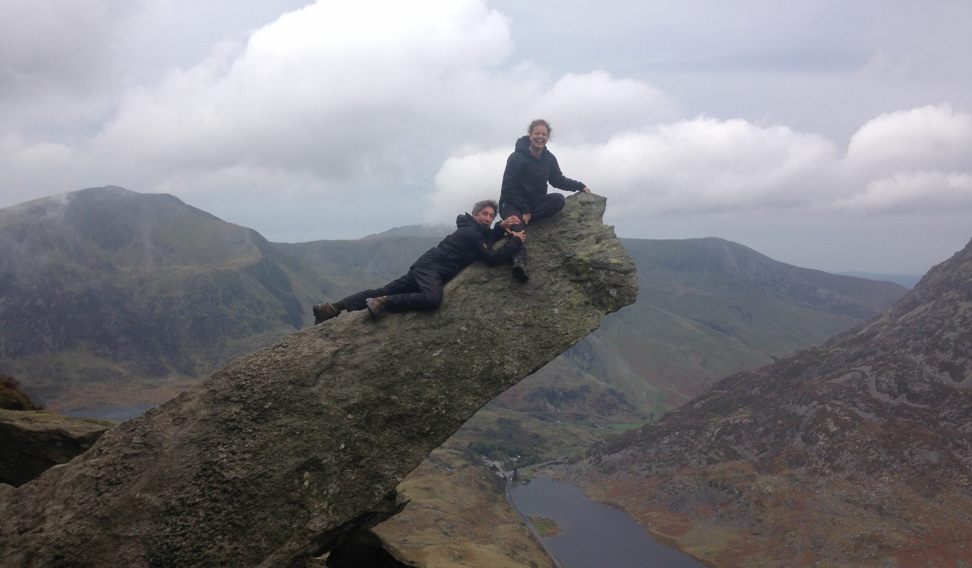 Carol and Neil on the Canon, Snowdonia
