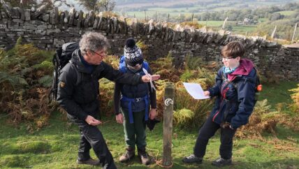 Youth Group navigation in the Brecons