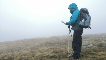 Hill top navigation in poor visibility