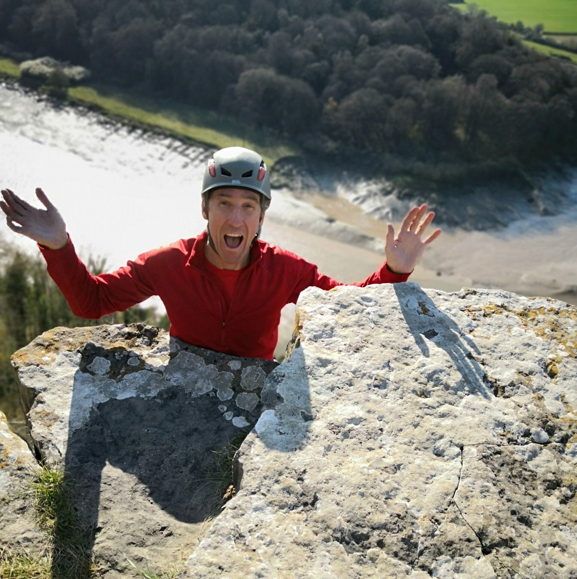 Fun climbing at Symonds Yat